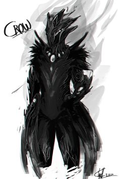 """My design of a new warframe I would like to see in the game. It is just the first sketch and I might redo alot here, but I like how his pants turned out and the """"wings"""". All-black is the Stalker's ..."""