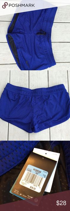 """🆕 NWT Nike cobalt running shorts NWT. Drawstring waist (measures 18""""). Front length: 9"""", back length: 11"""". Fully lined 100% polyester. Nike Shorts"""
