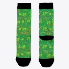 Patrick's Day Socks T-Shirt from Lucky St.Patrick's Day, a custom product made just for you by Teespring. Green Socks, Socks For Sale, Twitch Hoodie, Name Cards, Order Prints, St Patrick, Birthday Gifts, Just For You, T Shirt