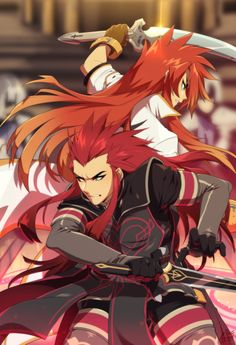 Asch and Luke fon Fabre from Tales of the Abyss!<br /><br />Posters are printed on x light cardstock. Tales Series, Fabre, Lights, Manga, Black And White, Prints, Anime, Posters, Fictional Characters