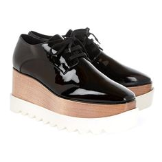 Stella McCartney faux-patent-leather platform brogues, $1,100 net-a-porter.com