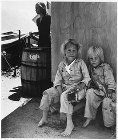 Children of migrant workers from Texas, at migratory camp in California, 1940, Dorothea Lange (NARA via Wikimedia Commons)