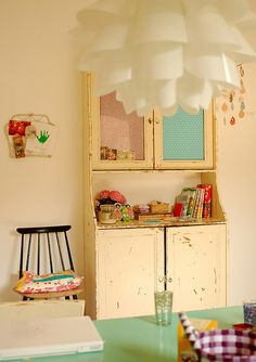 dying for a cupboard like this to keep all of my fabric. but nowhere to put it!