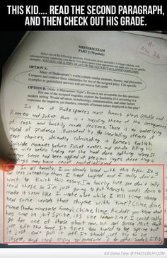 How to get an A- for one's essay; I just laughed out loud...