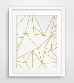 Gold Geometric Art Gold Minimalist Art Gold by MelindaWoodDesigns #Geometricart #homedecor