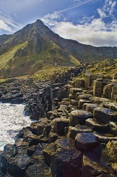 Picture Of Giant S Causeway In Northern Ireland. Stock Image - Image of green, geology: 11511915 Picture of Giant's Causeway in Northern Ireland. Landscape of Giant's Causeway N , Londonderry, Ireland Vacation, Ireland Travel, Beautiful Places To Visit, Cool Places To Visit, Amazing Places, Visit Northern Ireland, Belfast Ireland, Galway Ireland