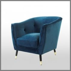 Shop Sapphire Blue Velvet Chair at Interiors Online. Exclusive High End Furniture.