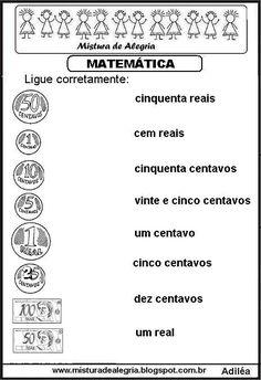 Matemática séries iniciais de alfabetização                              …                                                                                                                                                     Mais Fun Math, Math Games, Math Activities, Homeschool Math, Elementary Math, Professor, Angela, Teaching Math, Money Activities