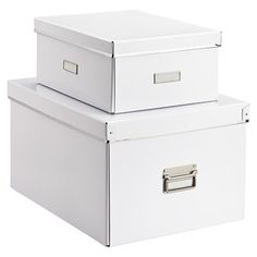 """For dining room bookshelf White Bigso Storage Boxes (the top one) Also available in black 11"""" x 15"""" x 6-1/2"""" h $12.99"""