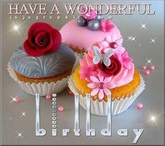 My Photo Album Wedding Cakes Photos on WeddingWire Wedding Cake Photos, Wedding Photo Albums, Wedding Cakes, Blue Cupcakes, Pretty Cupcakes, Happy Birthday, Birthday Greetings, Pink Grey Wedding, Cupcake Collection