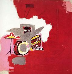 Jean-Michel Basquiat Max Roach 1984. Acrylic and oil paintstick on canvas 60 x 60 in. (152.4 x 152.4 cm)