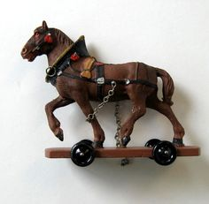 Hey, I found this really awesome Etsy listing at https://www.etsy.com/listing/291539491/antique-harnessed-horse-pull-toy-hand
