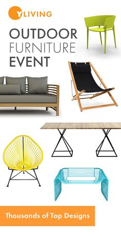 FINAL WEEK - Outdoor Furniture Event. Save up to 20% on Thousands of Top Designs through April 30, 2016. Free Shipping. http://www.yliving.com/modern-outdoor.html