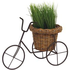Dot & Bo Let's Go Planter (540 UAH) ❤ liked on Polyvore featuring home, outdoors, outdoor decor, herb planter, bicycle basket, bicycle planter, bike basket and flower basket