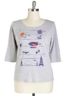 Flight On Your Feet Tee in Plus Size, @ModCloth