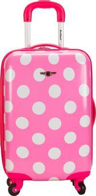 "Rockland Luggage Reno 20"" Hardside Carryon Pink Dot - via eBags.com! #PickPink"