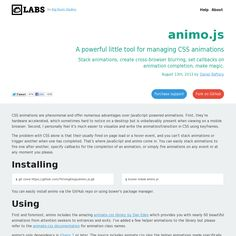 animo.js A powerful little tool for managing CSS animations