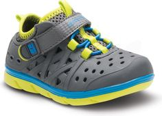 His new favorite shoes!  Stride Rite Stride Rite Made2Play® Phibian Sneaker Sandal