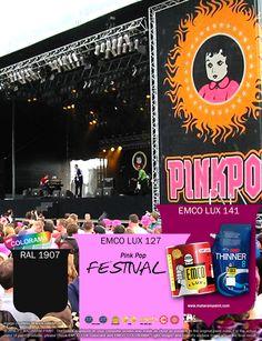 """Kawan EMCO, Pink Pop sebenanrnya berasal dari kata """"Pink"""" berasal dari bahasa Belanda untuk Pentakosta (Pinksteren) dan """"Pop"""" dari kata musik pop. Interprestasi kreatif kemudian menggabungkan kata """"pink"""" dari bahasa Inggris dan kata """"pop"""" dari bahasa Belanda yang berarti boneka sehingga logonya boneka dengan gaun merah muda. Terinspirasi warna Pink Pop? Ceriahkan hunian Anda dengan cat pilihan warna EMCO LUX 127, EMCO LUX 141 dan RAL 1907 pada palet emco."""