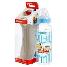 Bình sữa đáy tròn nhiều màu (240ml) | Pigeon | Mỹ phẩm và phụ kiện cho bé | 123.vn