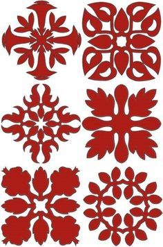 hawaiian quilt pattern plumeria - Google Search