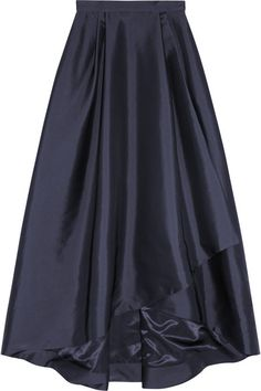 Alberta Ferretti Pleated wrap-effect taffeta maxi skirt