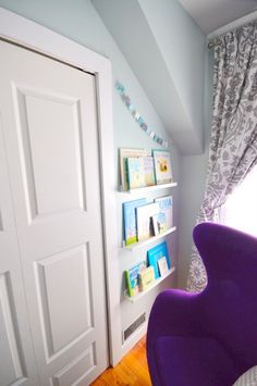nursery hack: IKEA picture ledges as bookshelves - the sweetest digs