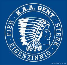 "clublogo football club AA Gent (named ""The Buffalo's"")"
