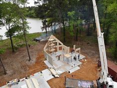 Timber Block experts will host an exclusive webinar Thursday, April 8 which will go through the Timber Block product and the overall home building process Home Building Tips, Building Systems, Building A House, Custom Home Builders, Custom Homes, Wood Homes, Block Plan, Wall Installation, New Home Construction