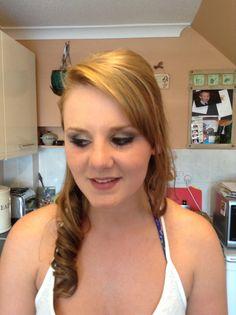 Half Up. Wedding Hair And Makeup, Hair Makeup, Half Up, Smokey Eye, Wedding Hairstyles, Curls, Braids, Blush, Long Hair Styles