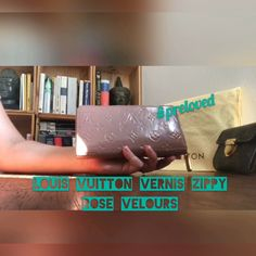 7bff769a1856 Louis Vuitton Vernis Rose Velours Zippy Wallet  louisvuitton  preloved   wallet