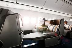 #Lufthansas Business Class, featuring the new Full Flat Seat.