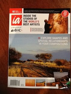 Rika De Klerk. Honored to have my landscape paintings featured on cover of International Artist Magazine as well as eight page editorial inside magazine