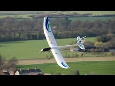 Parkzone Radian RC glider slope-soaring at Deacon Hill
