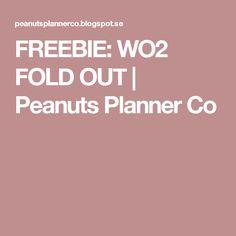 FREEBIE: WO2 FOLD OUT | Peanuts Planner Co
