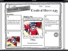 Great blog post about using graphic organizers and the Book Creator app to create interactive reading notebooks.