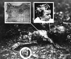 May 12 1932, the decomposed and animal-eaten body of Lindbergh's son is discovered by truck driver William Allen, about two miles from the family home. Cause of death was apparently a fractured skull, and Lindbergh identified the body though a birth defect of one of the toes. The aviator ordered the body cremated, without a full autopsy.