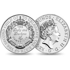 The Royal Birth 2015 United Kingdom Brilliant Uncirculated Coin Royal Princess, Princess Charlotte, Duke And Duchess, Duchess Of Cambridge, Welcome Design, Uncirculated Coins, Old Money, Royal Babies, Silver Bars