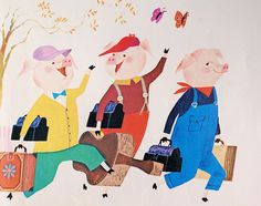 The Three Little Pigs    Illustrated by Art Seiden  copyright 1965