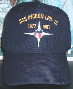USS INCHON LPH-12 crest w dates of service on board ship Military Hats eaf7cf5145b5