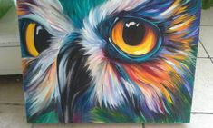 Colorful owl 2 by can find Owl paintings and more on our website.Colorful owl 2 by Colorful Animal Paintings, Owl Paintings, Owl Canvas, Canvas Art, Bird Painting Acrylic, Art Deco Posters, Bird Drawings, Whimsical Art, Bird Art
