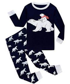 08139e5bb3 Family Feeling Little Boys Girls  Stripe Christmas Cotton Pajama Sets