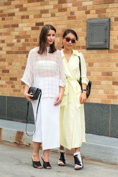 The NYFW Street Style Looks That Truly Stunned #refinery29  http://www.refinery29.com/2014/09/73987/new-york-fashion-week-2014-street-style-photos#slide-4  Long, loose layers.