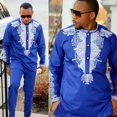"""Universe of goods - Buy """"Dashiki mens top pant set 2 pieces outfit set African men clothes 2018 riche african clothing for men dashiki shirt with trouser"""" for only 39 USD. Latest African Fashion Dresses, African Men Fashion, African Wear, African Attire, Clothes 2018, Men Clothes, Dashiki Shirt, African Clothing For Men, African Dashiki"""
