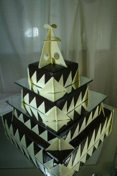 A take on modern art buildings, for a client in London. Dark and White chocolate....