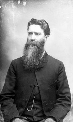 A taller man should consider the long beard. (In honor of No Shave November.)| Florida Memory
