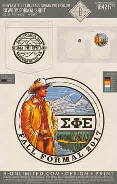 Sigma Phi Epsilon Formal Tshirt! #BUonYOU #greek #greektshirts #greekshirts #SigEp #SigmaPhiEpsilon #Formal #Mountains #Cowboys