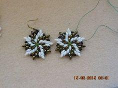 Superduo earrings (Italian) ~ Seed Bead Tutorials