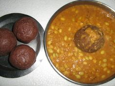 'Raagi Muddhe mele avarae kalu'. Raagi Mudde, a popular dish among rural folk in Southern Karnataka. It is a staple food of our farmers in southern parts of Karnataka very popular in Mandya, Mysore district. Have a mudde ball with 'Tuppa sakkaare'  it makes such a satisfying meal.... It is considered as a healthy food for all age groups. Sprouted Raagi porridge is given to babies, ragi malt to young children, raagi mudde is eaten by adults.  (Sumana)