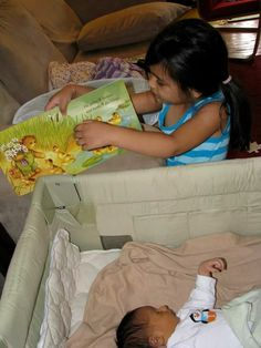 Older sibling reading
